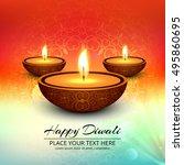 abstarct happy diwali background | Shutterstock .eps vector #495860695