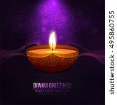 abstarct happy diwali background | Shutterstock .eps vector #495860755