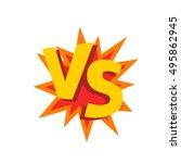 versus letters or vs logo... | Shutterstock .eps vector #495862945