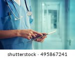 healthcare and medicine. doctor ... | Shutterstock . vector #495867241