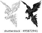 phoenix illustration | Shutterstock .eps vector #495872941