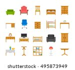 home and office furniture... | Shutterstock .eps vector #495873949