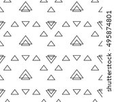 abstract triangle geometrical... | Shutterstock .eps vector #495874801