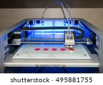 3d printer  fdm . fused...   Shutterstock . vector #495881755