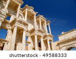 The famous library at Efese - stock photo