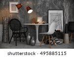 modern room interior | Shutterstock . vector #495885115