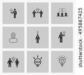 creative idea icons | Shutterstock .eps vector #495887425