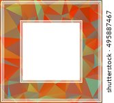 polygonal abstract background... | Shutterstock . vector #495887467