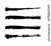 black grunge banner set... | Shutterstock .eps vector #495889369