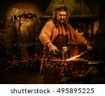 Senior Blacksmith Forging The...