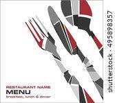 restaurant menu | Shutterstock .eps vector #495898357