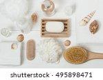 spa kit. shampoo  soap bar and...   Shutterstock . vector #495898471