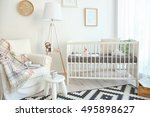interior of modern baby room | Shutterstock . vector #495898627