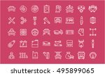 set vector line icons with open ... | Shutterstock .eps vector #495899065