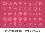 set vector line icons with open ...