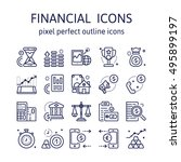 financial   outline icons  ... | Shutterstock .eps vector #495899197