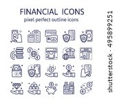 financial   outline icons  ... | Shutterstock .eps vector #495899251