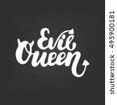evil queen   halloween party... | Shutterstock .eps vector #495900181