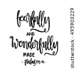 fearfully and wonderfully made. ... | Shutterstock .eps vector #495903229