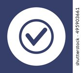 check  icon. flat design. | Shutterstock .eps vector #495903661