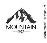 mountain icon. monochrome... | Shutterstock .eps vector #495904375