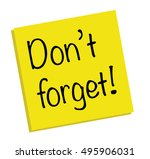 don't forget | Shutterstock . vector #495906031
