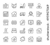 real estate and building icon... | Shutterstock .eps vector #495907069