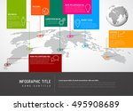 light world map with pointer... | Shutterstock .eps vector #495908689