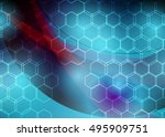 blue abstract template for card ... | Shutterstock .eps vector #495909751