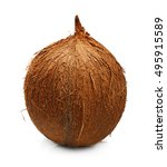 tropical fruit coconut isolated | Shutterstock . vector #495915589