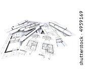 architect s plans   blueprints...   Shutterstock . vector #4959169