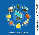 business management financial... | Shutterstock .eps vector #495921649