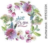 wildflower chrysanthemum flower ... | Shutterstock . vector #495923104