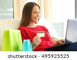 portrait of a woman shopping on