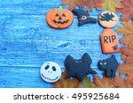 sweets on halloween | Shutterstock . vector #495925684