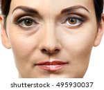 woman face before and after... | Shutterstock . vector #495930037