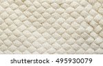 White Knitted Carpet Closeup....