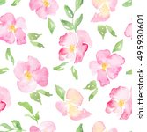 Watercolor Wild Roses   Floral...