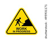 work in progress sign.  | Shutterstock . vector #495931171