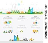 ecology landscape .waste... | Shutterstock .eps vector #495931789