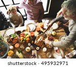 thanksgiving celebration...   Shutterstock . vector #495932971