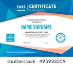 modern certificate with blue... | Shutterstock .eps vector #495933259