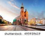 old city center view with adam... | Shutterstock . vector #495939619