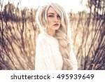 outdoor fashion photo of young... | Shutterstock . vector #495939649