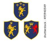 classic royal emblem badge...   Shutterstock .eps vector #495940549