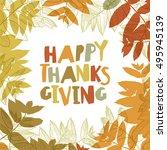 happy thanksgiving day design... | Shutterstock .eps vector #495945139