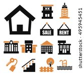 buying home icon set | Shutterstock .eps vector #495945451