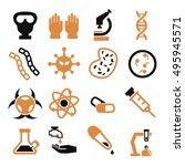 biohazard  toxic icon set | Shutterstock .eps vector #495945571