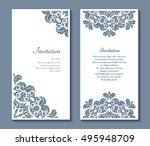 cutout paper frames  set of... | Shutterstock .eps vector #495948709