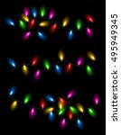 color christmas garland of... | Shutterstock .eps vector #495949345